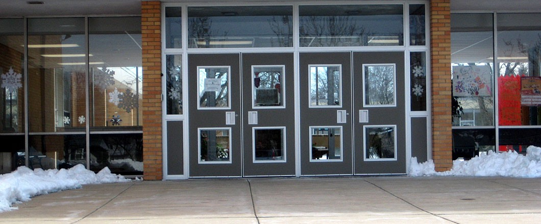 High School Front Doors
